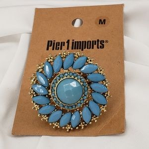 Pier 1 Jewelry - Gorgeous Turquoise & Gold Colored Ring  NWT